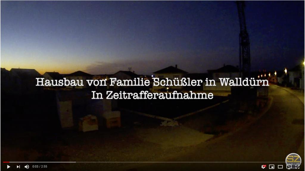 Zeitraffer-Aufnahme vom Hausbau der Familie Schüßler